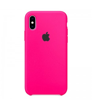 Silicone case для iPhone X/Xs (Hot Pink)