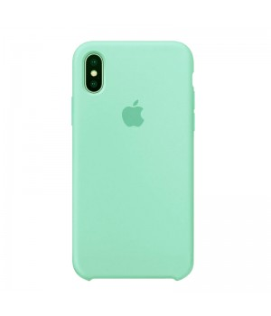 Silicone case для iPhone XR (Mint)