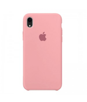 Silicone case для iPhone XR (Pink)