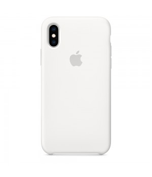 Silicone case для iPhone X/Xs (White)