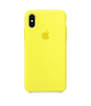Silicone case для Iphone Xs Max (Yellow)