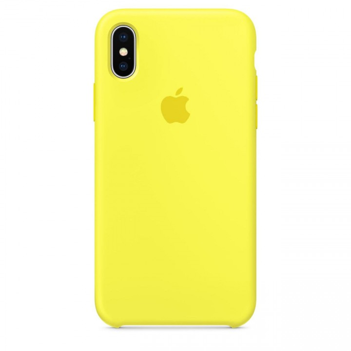 Silicone case для iPhone X/Xs (Yellow)