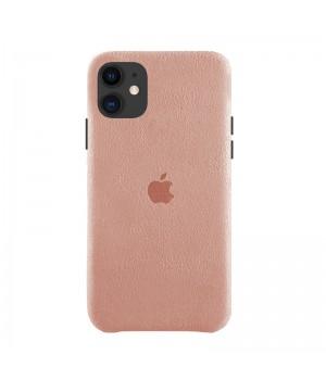 Чехол Alcantara Case для iPhone 11 (Light Pink)