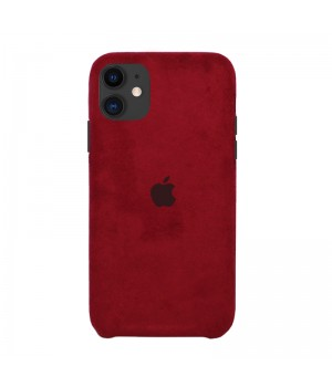 Чехол Alcantara Case для iPhone 11 (Red)