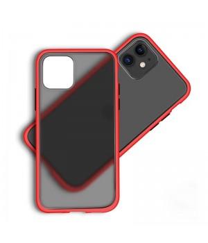 Чехол пластиковый матовый для iPhone 11 (Red Frame)