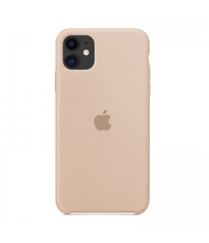 Silicone case для iPhone 11 (Beige)