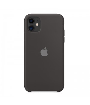 Silicone case для iPhone 11 (Black)