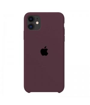 Silicone case для iPhone 11 (Eggplant)