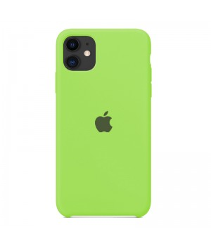 Silicone case для iPhone 11 (Green)