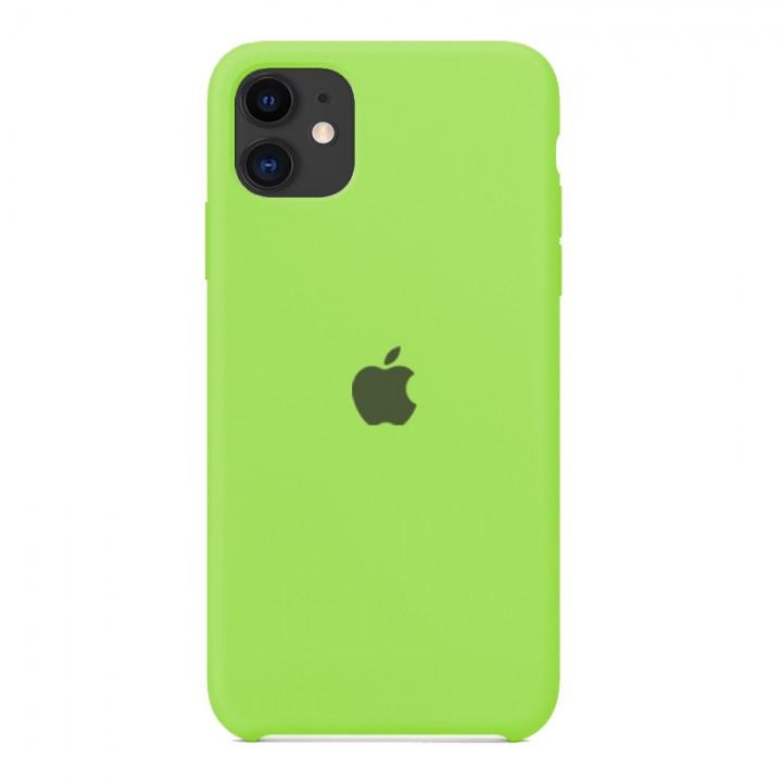 Silicone case для iPhone 11 (Green)