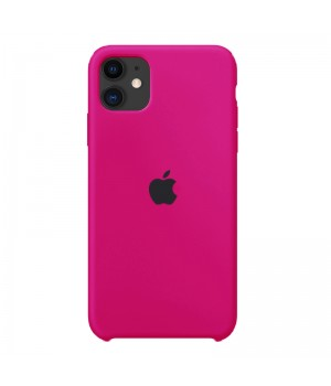 Silicone case для iPhone 11 (Hot Pink)