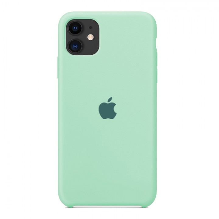 Silicone case для iPhone 11 (Mint)