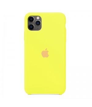 Silicone case для iPhone 11 Pro Max (Yellow)