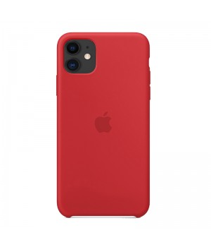 Silicone case для iPhone 11 (Red)
