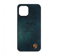Чехол силиконовый c лого PORSCHE для iPhone 12 Pro Max (Green leather)