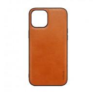 Чехол COBLUE под кожу для iPhone 13 (Brown leather)