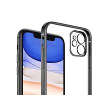 Чехол COBLUE прозрачный с окантовкой для iPhone 13 (Black frame)