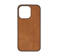 Чехол фирменный MeanLove для iPhone 13 (Brown leather)