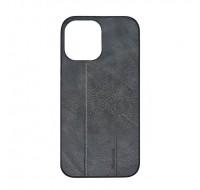 Чехол фирменный MeanLove для iPhone 13 (Grey leather)
