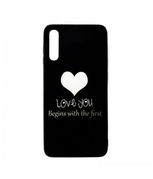 Чехол пластиковый для Samsung Galaxy A50/A30S (love you black)