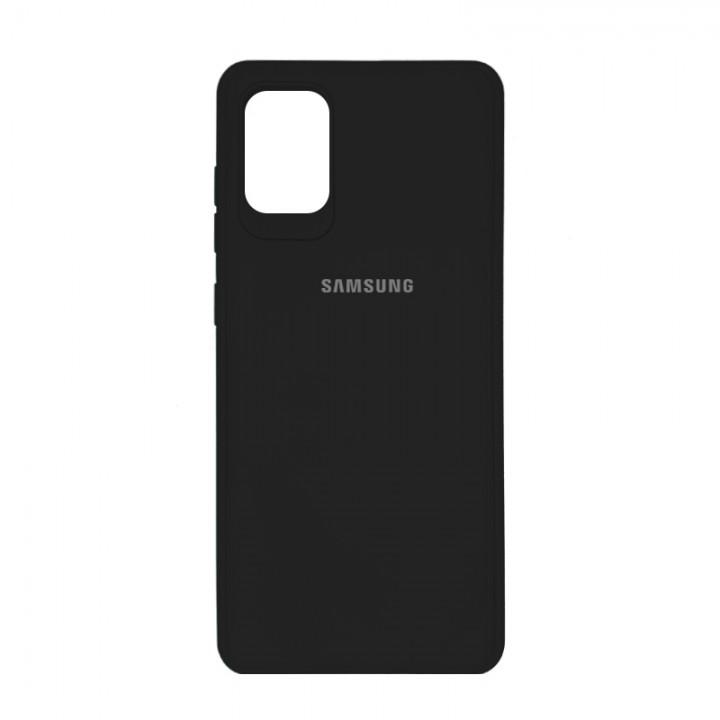 Чехол силиконовый c лого  для Samsung Galaxy S10 Lite (Black)
