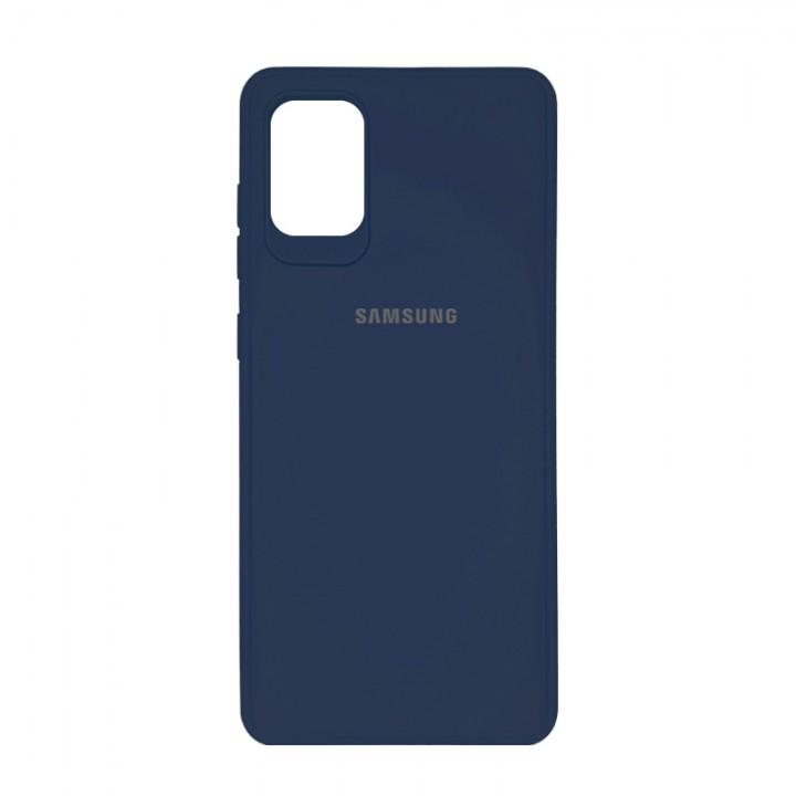 Чехол силиконовый c лого  для Samsung Galaxy S10 Lite (Blue)