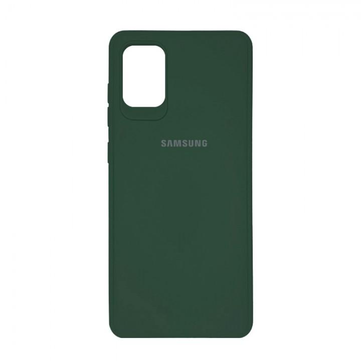 Чехол силиконовый c лого  для Samsung Galaxy S20 Plus (Green Forest)