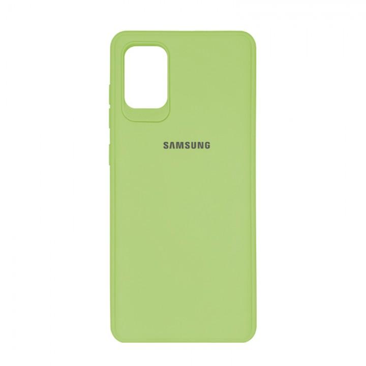 Чехол силиконовый c лого  для Samsung Galaxy S20 Plus (Olive)