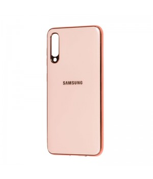 Чехол Leather Case с окантовкой для Samsung Galaxy A70 (Rose Gold Leather)