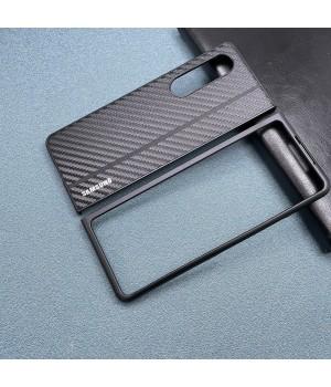 Чехол Carbon Leather Cover для Samsung Galaxy Z Fold 3 (Carbon black stripe)
