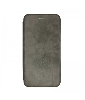 Чехол-книжка для Xiaomi Mi 9 (Gray Leather)