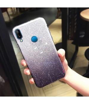 Гелевый чехол для Xiaomi Redmi Note 7 (Gradent Grey-Violet)