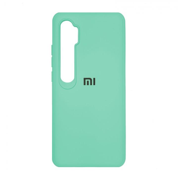 Чехол силиконовый  для Xiaomi Mi Note 10/Mi Note 10 Pro с лого (Mint)