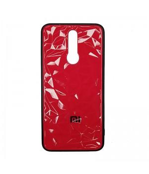 Чехол пластиковый 3D Ромб для Xiaomi Redmi 8 (Pink Romb)
