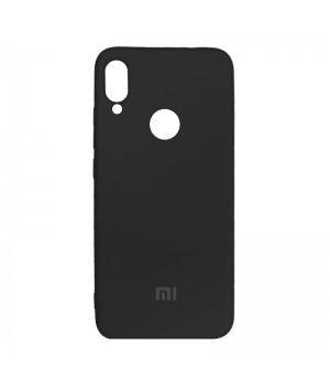 Силиконовый чехол для Xiaomi Redmi Note 7 с лого (Black)