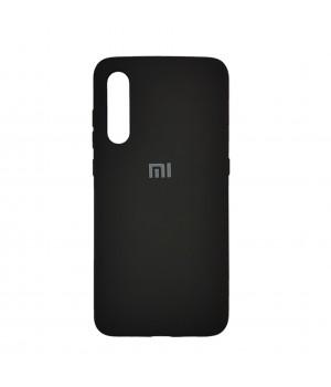 Силиконовый чехол с матовой поверхностью для Xiaomi Mi 9 с лого (Black)