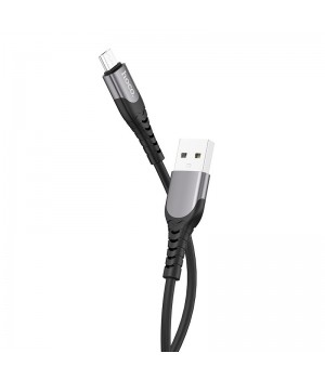 """Кабель USB Hoco """"U80 Cool silicone"""" Micro-USB ,1.2 м (Черный)"""