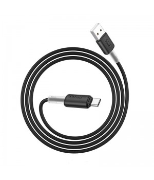 """Кабель Hoco """"X48 Soft Silicone"""" USB-Type-C , 100 см (Черный)"""