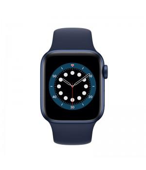 Apple Watch Series 6, 40mm, корпус из алюминия синего цвета, спортивный ремешок (Sport Band) «глубокий синий»