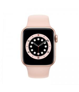 Apple Watch Series 6, 44 mm, корпус из алюминия золотого цвета, спортивный ремешок (Sport Band) «розовый песок»