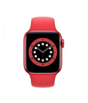 Apple Watch Series 6, 40mm, корпус из алюминия красного цвета, спортивный ремешок (Sport Band) красного цвета (PRODUCT(RED)