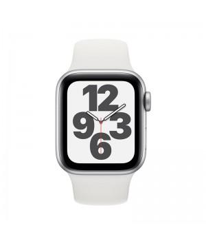 Apple Watch SE, 44mm, корпус из алюминия серебристого цвета, спортивный ремешок (Sport Band) белого цвета