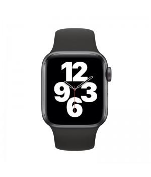 Apple Watch SE, 40mm, корпус из алюминия цвета «серый космос», спортивный ремешок (Sport Band) черного цвета